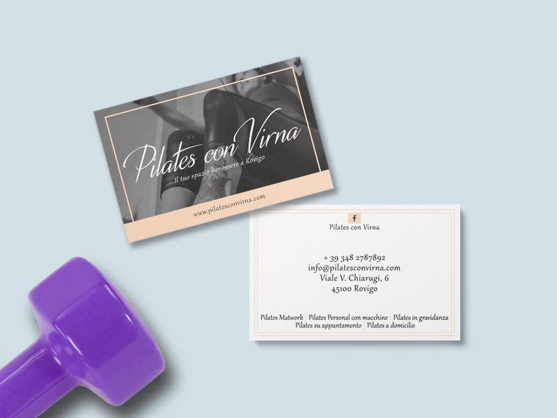 Progettazione Biglietti da Visita per Studio di Pilates con Virna | By Studio PATh