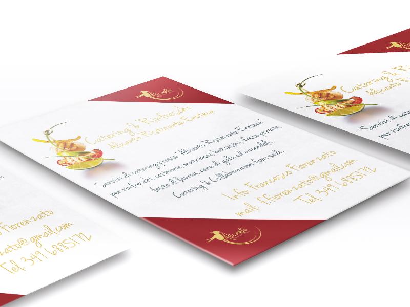 Progettazione grafica Card A6 per Alicanto Ristorante Enoteca | By Studio PATh