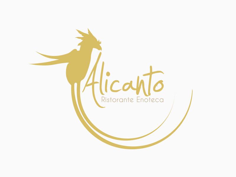 Progettazione Logo per Alicanto Ristorante Enoteca | by Studio PATh
