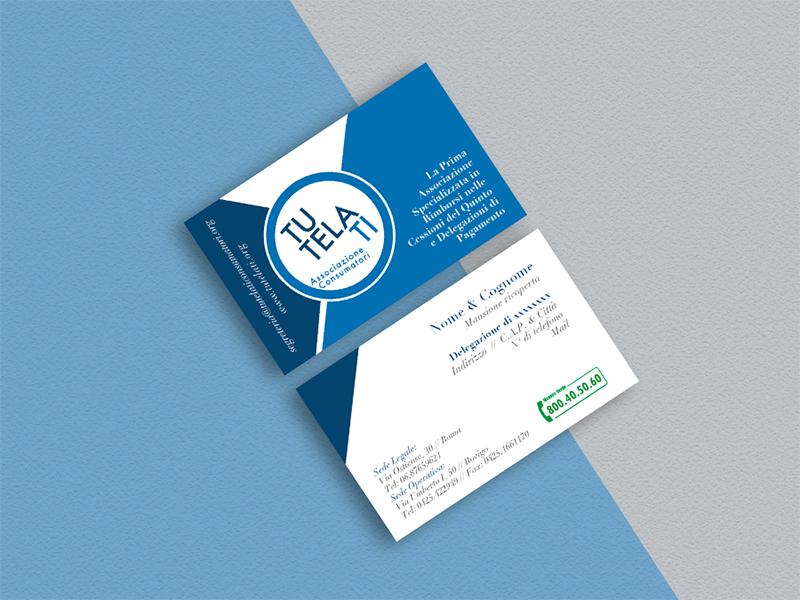 Progettazione Biglietti da Visita per TutelaTi Associazione Consumatori | by Studio PATh