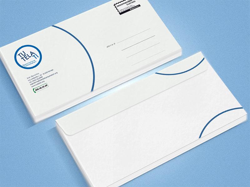 Progettazione Buste da Lettere per TutelaTi Associazione Consumatori   by Studio PATh