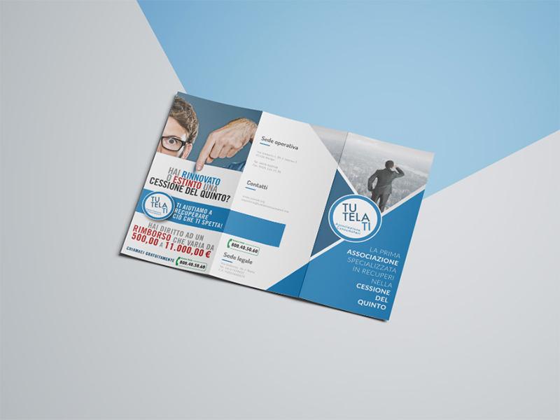 Progettazione e Impaginazione Brochure Tre Ante per TutelaTi Associazione Consumatori | by Studio PATh