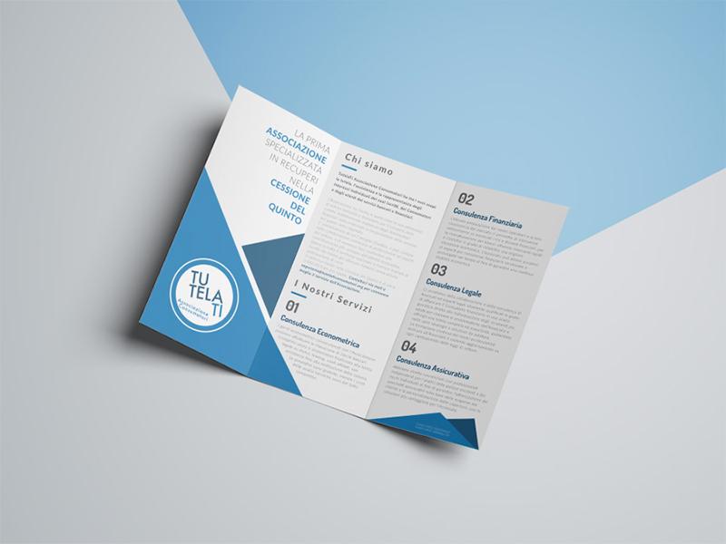 Progettazione e Impaginazione Brochure Tre Ante per TutelaTi Associazione Consumatori   by Studio PATh