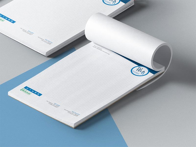 Progettazione Grafica Block Notes per TutelaTi Associazione Consumatori | by Studio PATh
