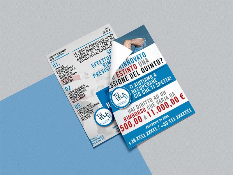 Progettazione Grafica Card A6 per TutelaTi Associazione Consumatori   by Studio PATh