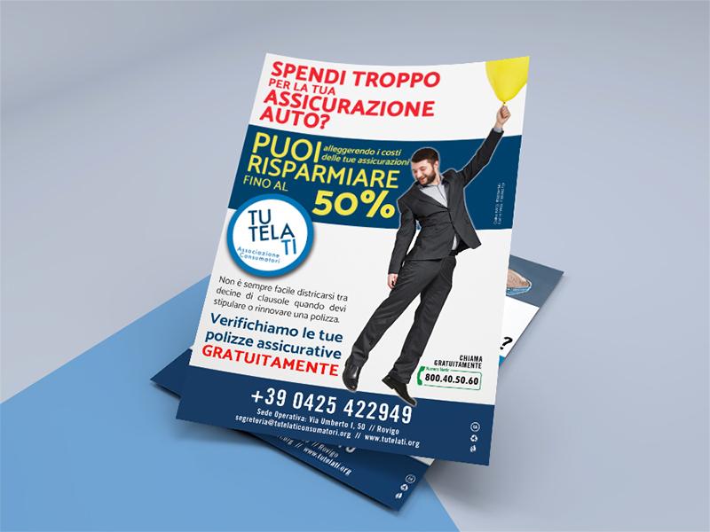 Progettazione Grafica Flyer A4 per TutelaTi Associazione Consumatori | By Studio PATh