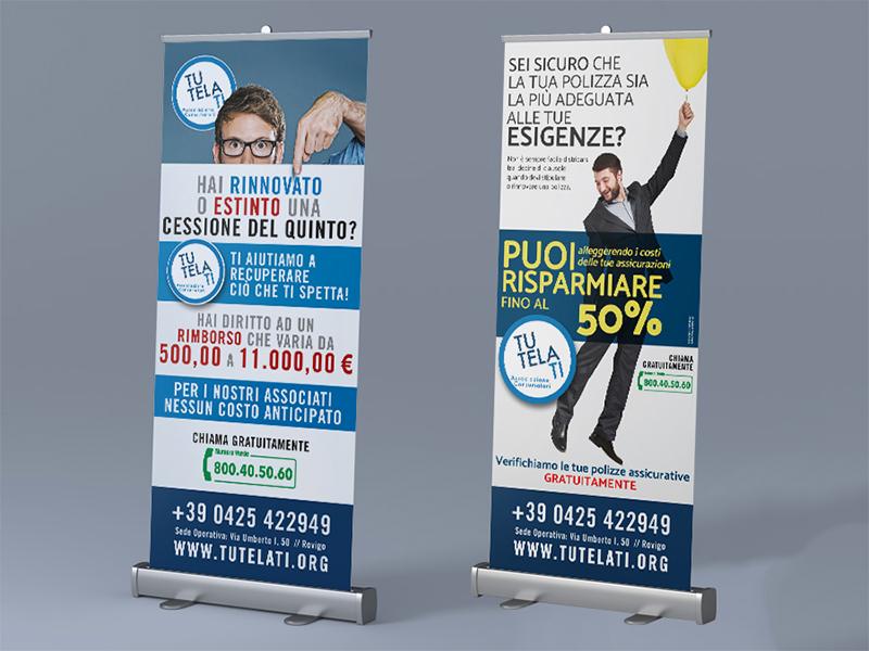 Progettazione Grafica Rollup per TutelaTi Associazione Consumatori   by Studio PATh