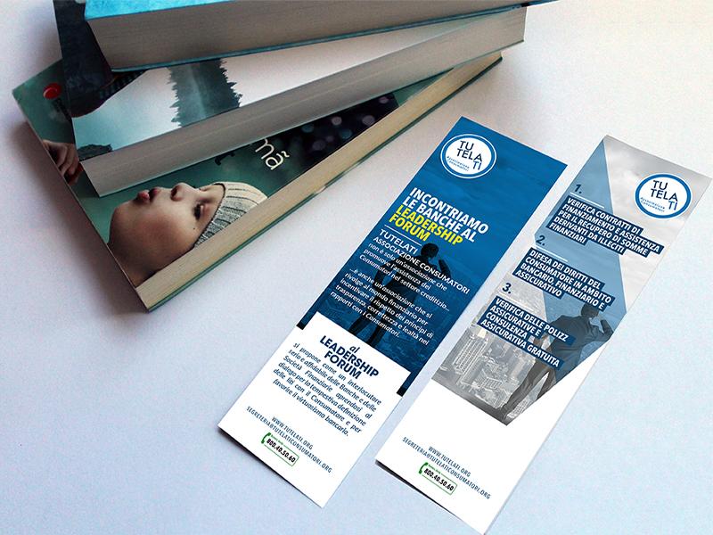 Progettazione Grafica Segnalibro per TutelaTi Associazione Consumatori | by Studio PATh