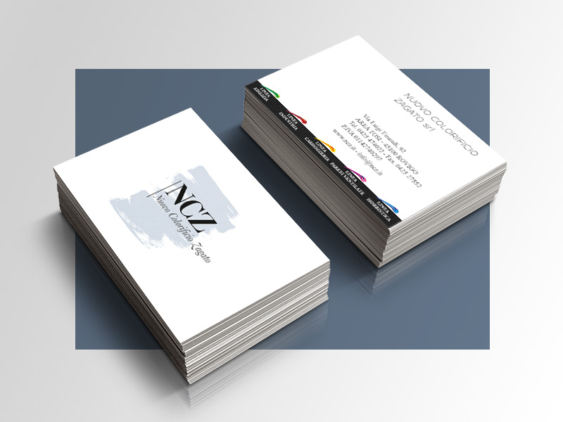 Progettazione Grafica Biglietti da Visita per NCZ Nuovo Colorificio Zagato | by Studio PATh