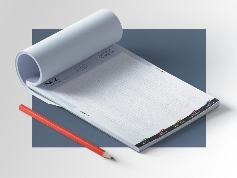 Progettazione Grafica Block Notes per NCZ Nuovo Colorificio Zagato | by Studio PATh