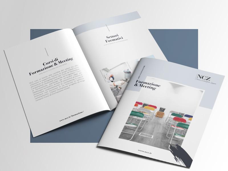 Progettazione e Impaginazione Brochure Corsi di Formazione per NCZ Nuovo Colorificio Zagato | by Studio PATh