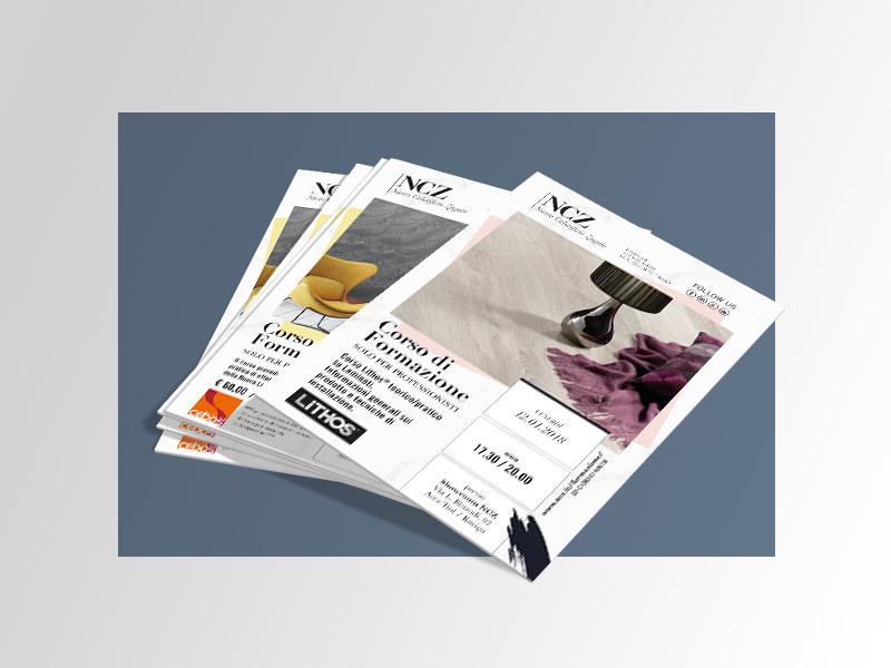 Progettazione Grafica Flyer NCZ Nuovo Colorificio Zagato | by Studio PATh
