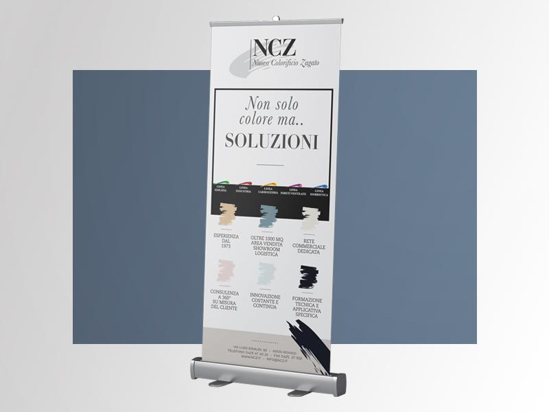 Progettazione Grafica Rollup per NCZ Nuovo Colorificio Zagato | by Studio PATh
