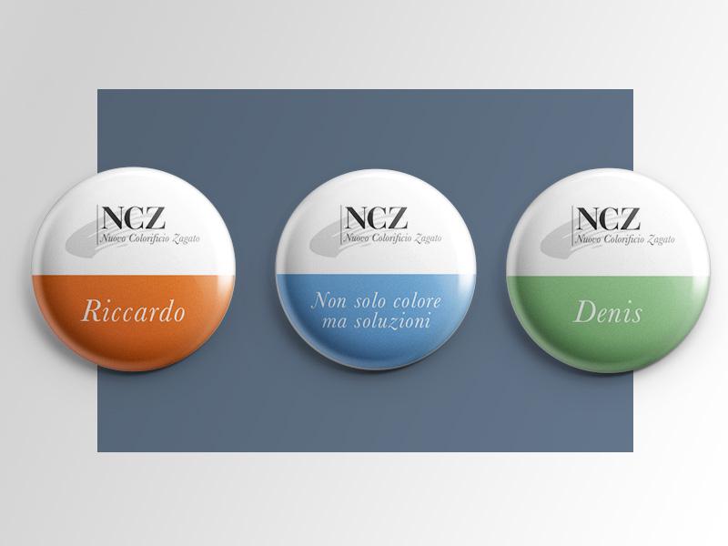 Progettazione Grafica Spille per NCZ Nuovo Colorificio Zagato | by Studio PATh