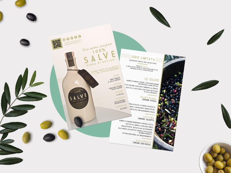 Progettazione Grafica Card per Olio Salve | by Studio PATh