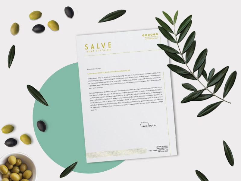 Progettazione Grafica Carta Intestata per Olio Salve | by Studio PATh
