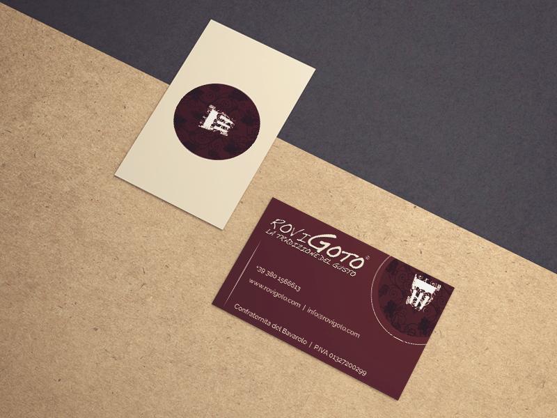Progettazione Grafica Biglietti da Visita per RoviGoto | by Studio PATh