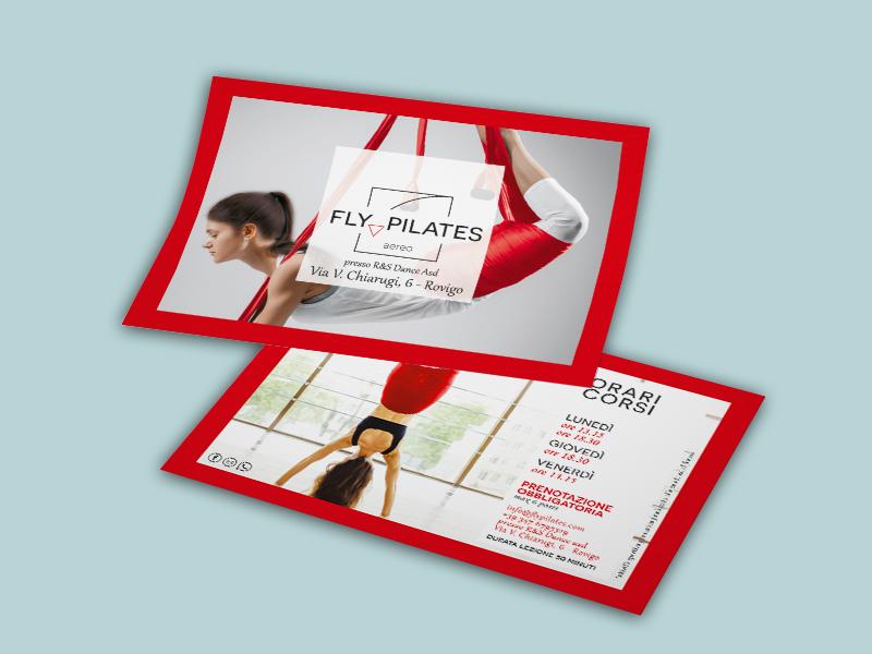 Progettazione Grafica Flyer per Studio di Fly Pilates | by Studio PATh