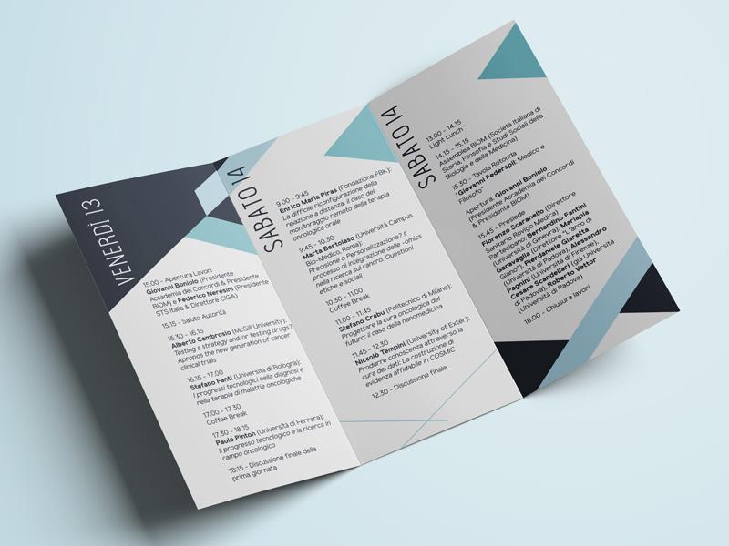 Progettazione Grafica Brochure 3 ante per Centro CIGA | by Studio PATh