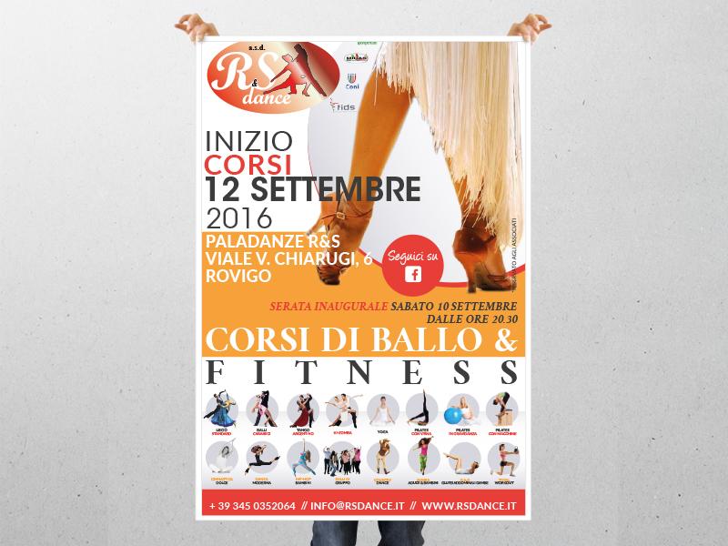 Progettazione Grafica Locandina per R&S Dance asd | by Studio PATh
