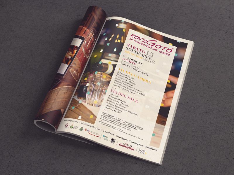 Progettazione Grafica Pubblicità Magazine per RoviGoto | by Studio PATh