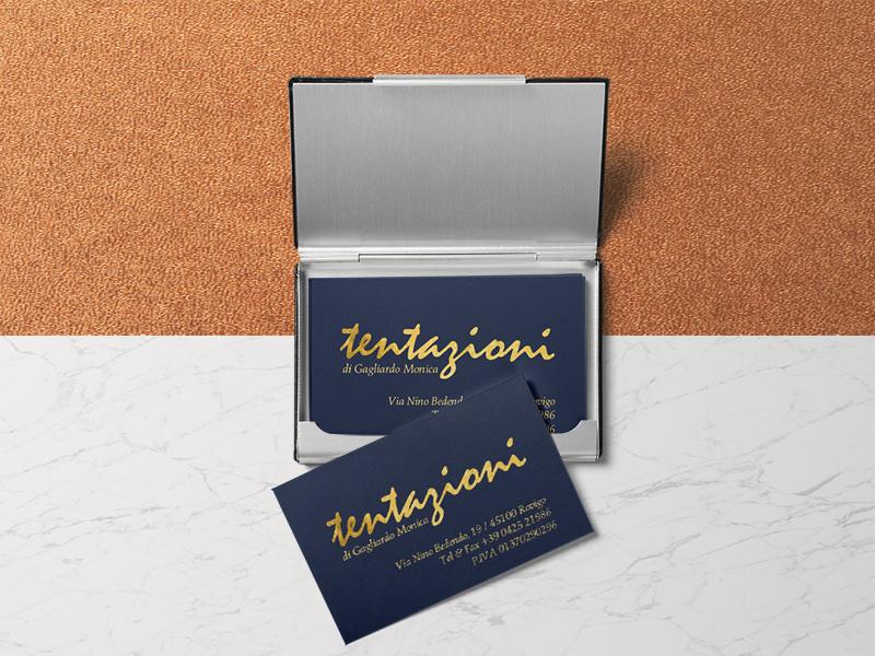 Progettazione Grafica Biglietti da Visita per Negozio Abbigliamento e Intimo Tentazioni | by Studio PATh