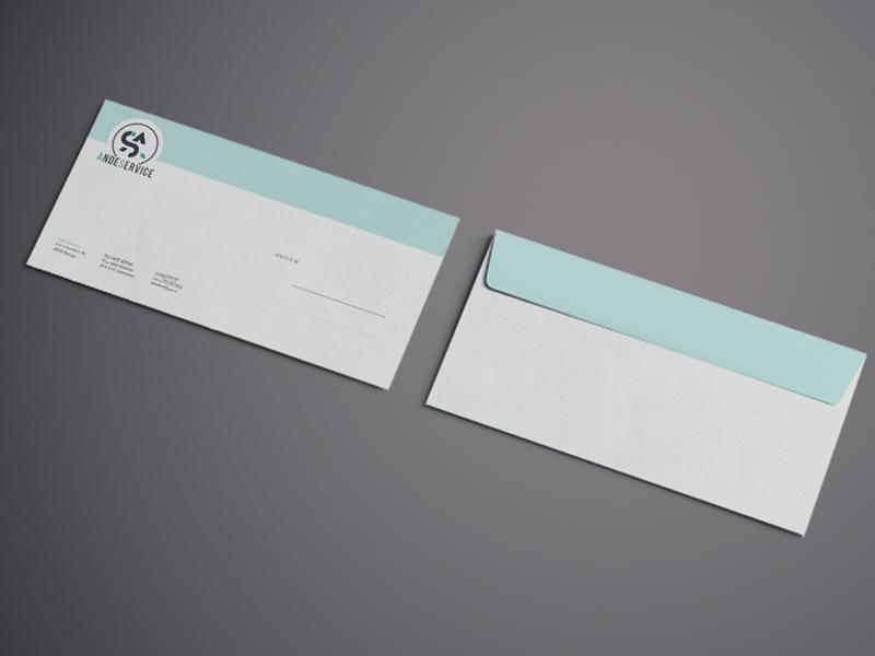 Progettazione Grafica Buste da Lettere per AndeService | by Studio PATh