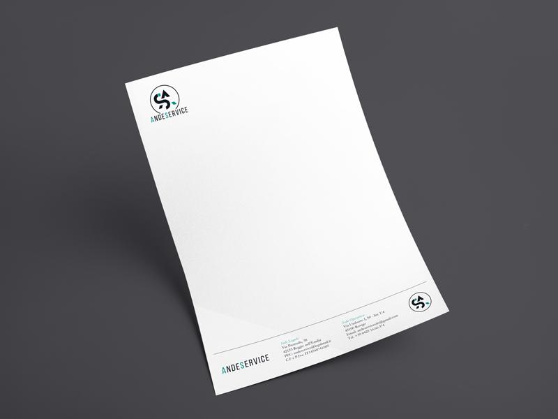 Progettazione Grafica Carta Intestata per AndeService | by Studio PATh